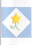 Embossed Daffodil Card