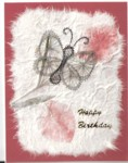 Butterfly on Handmade Paper