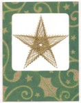 Embroidered Gold Christmas Star