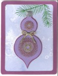 Embroidered Double Christmas Ornament