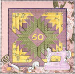 Pineapple Blossom Quilt Block Birthday Card
