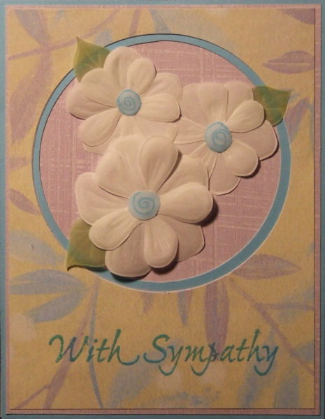 Sympathy Card With Vellum Flowers