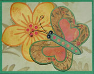 3-D Butterfly and Flower