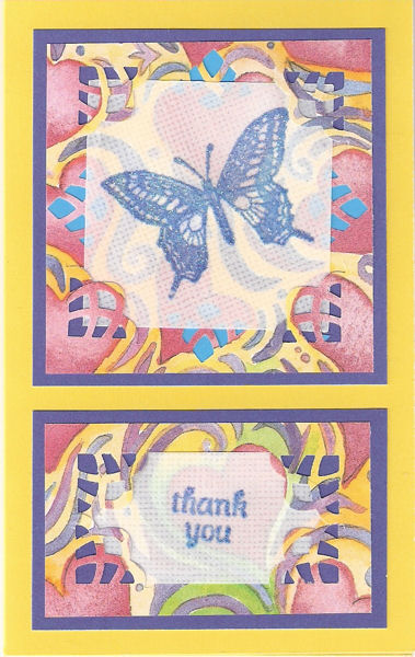 Sparkly Butterfly Thank You Card